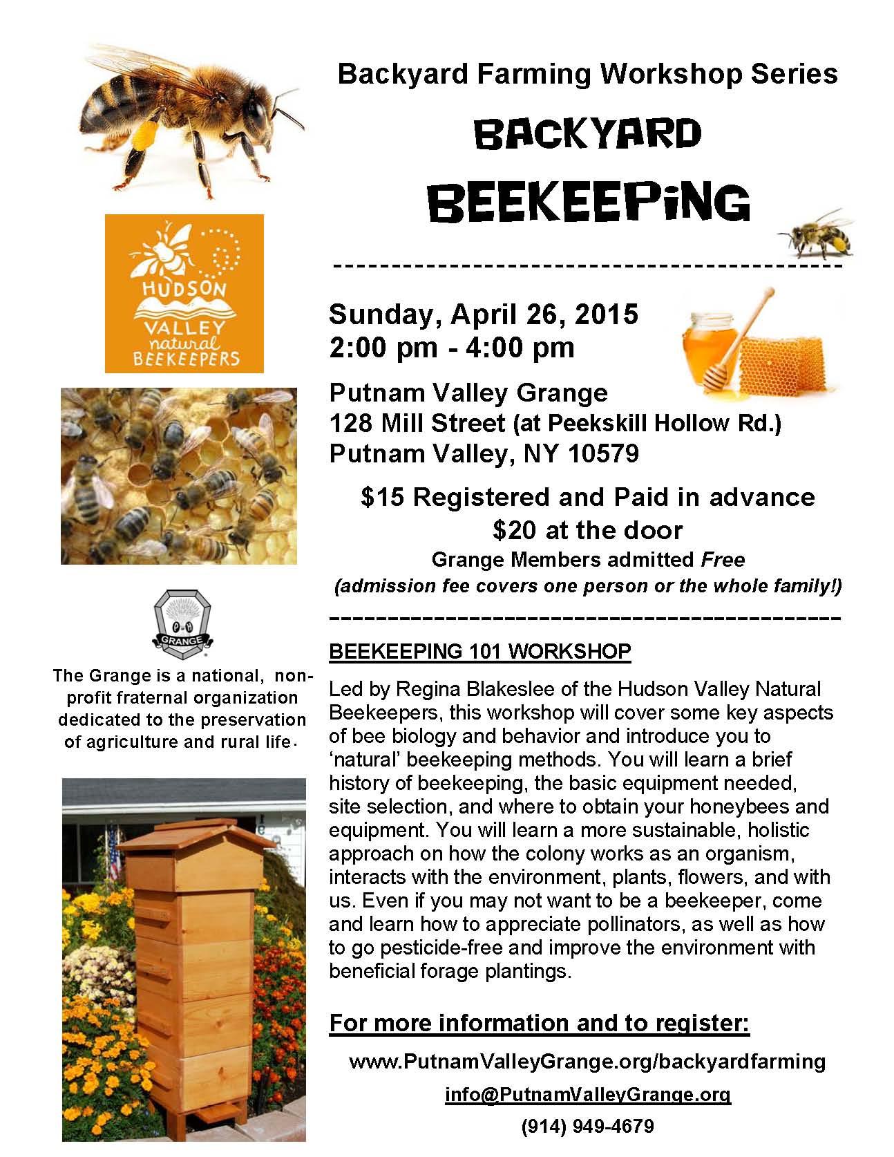 backyard farming workshop series
